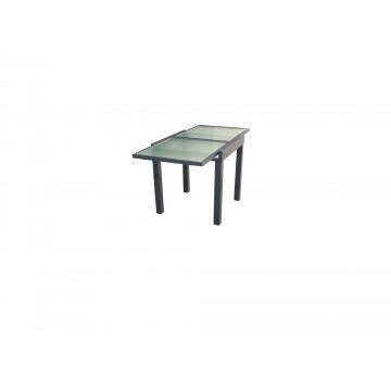 Τραπέζι επεκτεινόμενο αλουμινίου με τζάμι ασφαλείας