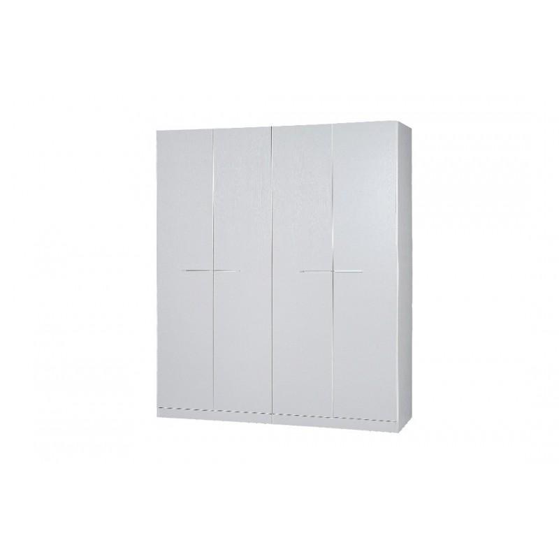 ντουλάπα τετράφυλλη σε χρώμα λευκό