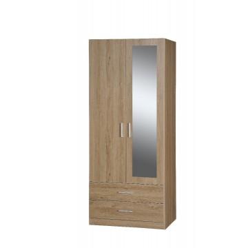 ντουλάπα δίφυλλη με καθρέπτη