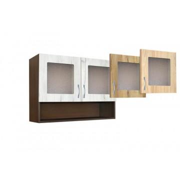 Ντουλάπι κουζίνας κρεμαστό με τζάμια 80εκ. Beni 80PB GENOMAX 4194