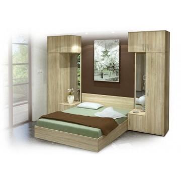 Σετ Υπνοδωματίου Combo: Κρεβάτι Διπλό 160/200 Ντουλάπες με καθρέφτη Κομοδίνα 2 τμχ. Genomax 8896
