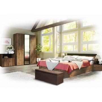 Σετ Υπνοδωματίου Lexi: Κρεβάτι Διπλό 160/200 Ντουλάπα τρίφυλλη με καθρέφτη Συρταριέρα Κομοδίνα 2 τμχ. Genomax