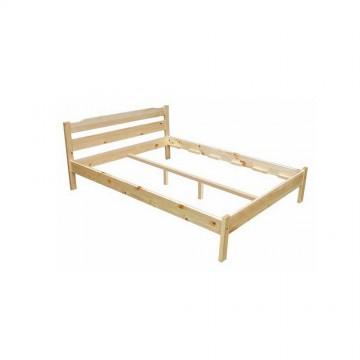 Κρεβάτι από φυσικό ξύλο διπλό 144?190 Masif Bed Genomax 8617