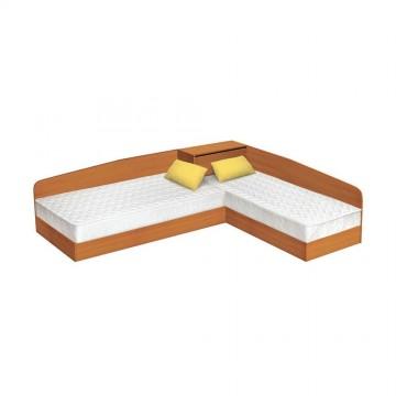 Κρεβάτι γωνιακό μπαούλο Krasi Genomax 3337