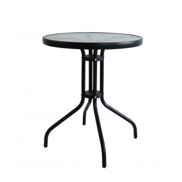 Τραπέζι στρόγγυλο με τζάμι ασφαλείας