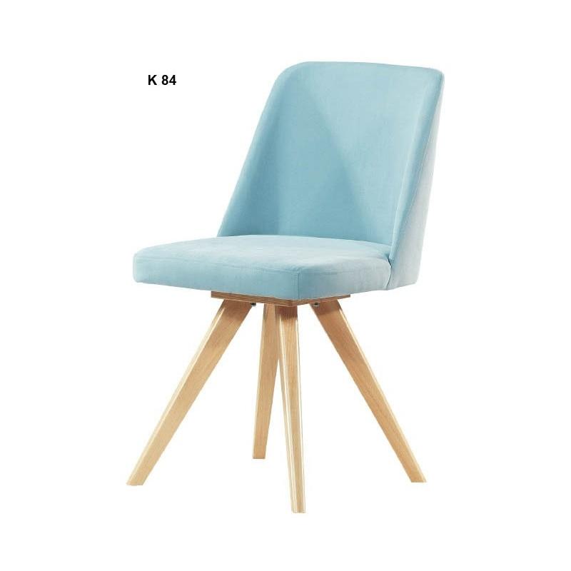 Τραπεζαρίας καρέκλα με επένδυση και ξύλινα πόδια