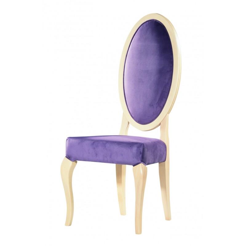 καρέκλα κλασική τραπεζαρίας με οβάλ πλάτη