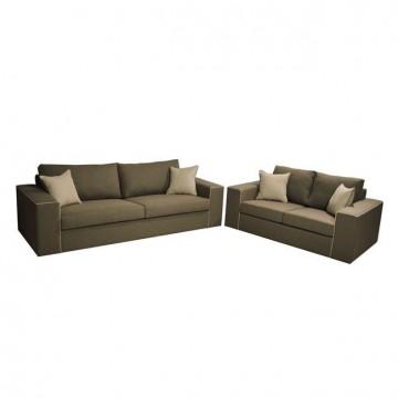 Σαλόνι καναπές τριθέσιος με διθέσιο.