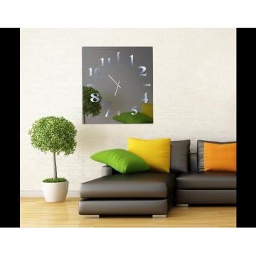 ρολόι τοίχου καθρέπτης με φωτισμό
