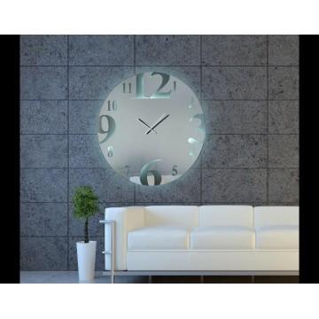 καθρέπτης ρολόι στρογγυλό φωτιζόμενο
