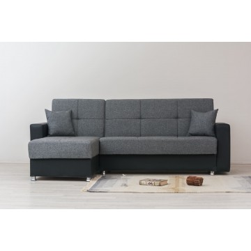 καναπές γωνία εναλλασσόμενη κρεβατι μπαούλο
