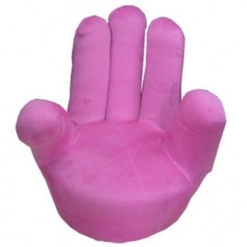παιδική πολυθρόνα χέρι ροζ