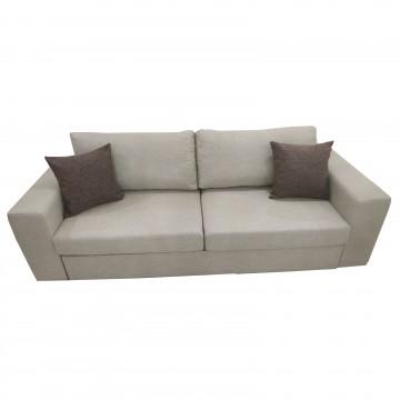 Καναπές κρεβάτι διπλό TROT μπεζ λινό ύφασμα με πλενομενα μαξιλάρια και δυνατότατη αλλαγής διαστάσεων