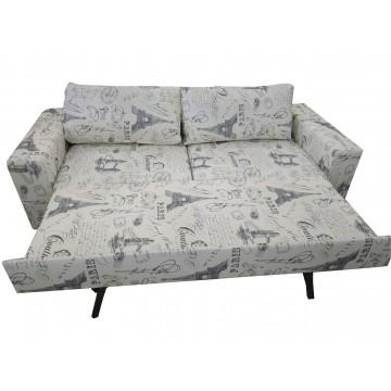 Καναπές κρεβάτι διπλό PARIS  με πλενομενα μαξιλάρια και δυνατότατη αλλαγής διαστάσεων