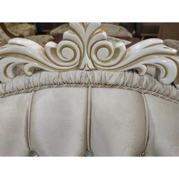 Σαλόνι κλασικό λουδοβίκειου Imperial με ξύλινη σκαλιστή κορνιζά