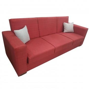 Καναπές κρεβάτι με αποθηκευτικό KANSAS χώρο κόκκινο χρώμα με δυνατότητα αλλαγής διαστάσεων