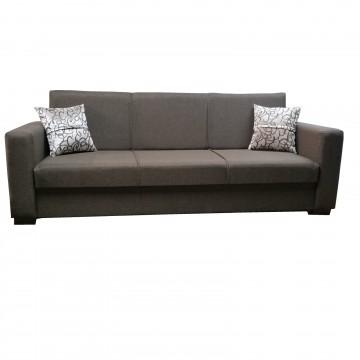 Καναπές κρεβάτι με αποθηκευτικό HERTEN χώρο καφέ χρώμα με δυνατότητα αλλαγής διαστάσεων