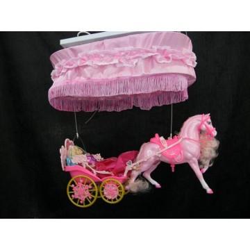 Παιδικο φωτιστηκο Μπαρμπη στην αμαξα