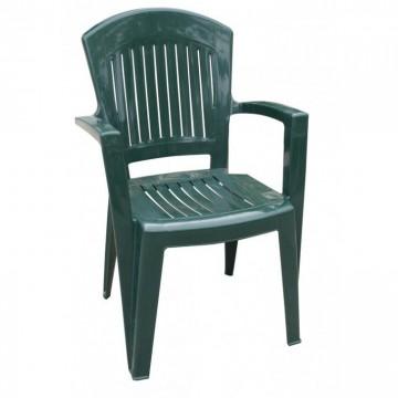 Πλαστική Καρέκλα με μπρατσα ΑΘΗΝΑ πράσινη