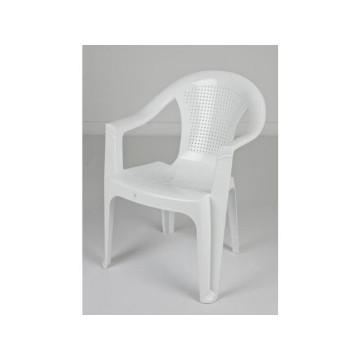 πλαστική καρέκλα με μπρατσα λευκή για εκδηλώσεις