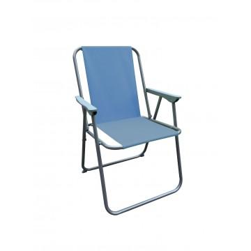 πτυσσόμενη καρέκλα παράλιας με μπλε αδιάβροχο πανί
