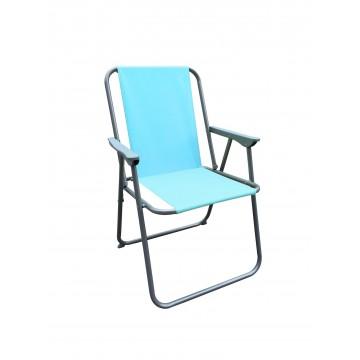 πτυσσόμενη καρέκλα παράλιας με σιέλ αδιάβροχο  πανί φασμα