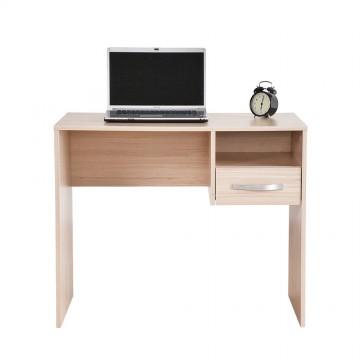 Γραφείο sonoma φυσικό χρώμα 90x52x74 εκ για φορητό υπολογιστή με συρτάρι και βοηθητικό χώρο