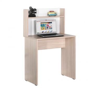 Γραφείο sonoma φυσικό χρώμα με βιβλιοθήκη 72x52x112 για φορητό υπολογιστή