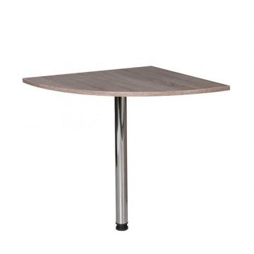 Προέκταση γραφείου τραπέζι γωνίας με μεταλλικό inox πόδι 76x76x75 εκ