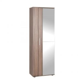 Έπιπλο εισόδου παπουτσωθηκη με καθρέπτη σταχτί με 10 ράφια 60x36x187 εκ