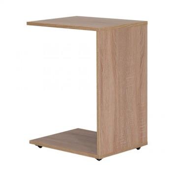 Τραπέζι βοηθητικό φυσικό sonoma με ροδακια για εύκολη μετακίνηση 35x45x62 εκ