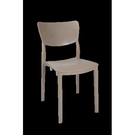 Καρέκλα Ερατώ πολυπροπυλενίου σε καπουτσίνο χρώμα 44*53*84εκ.