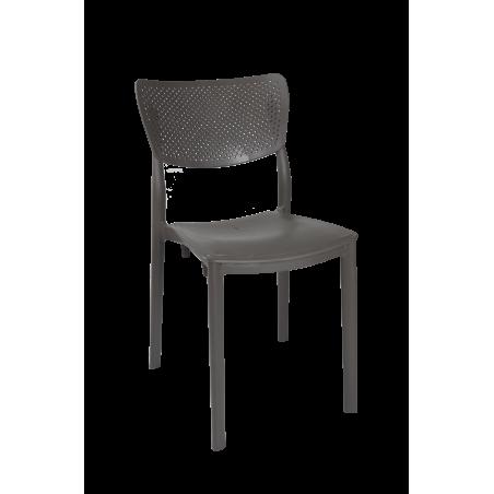 Καρέκλα Ερατώ πολυπροπυλενίου σε γκρι χρώμα 44*53*84εκ.