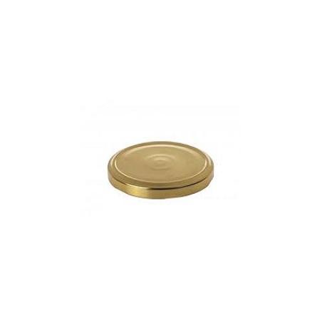 Καπάκι Φ82 χρυσό για βάζα βατραχάκι ειδικό για κλείσιμο με το χέρι σετ 100 τεμ