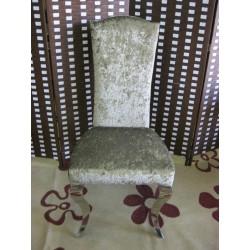 καρέκλα τραπεζαρίας με ανοξείδωτο σκελετό