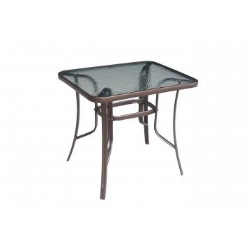 τραπέζι εξωτερικου χώρου καφέ σφυρήλατο 80 x 60 x 72 cm