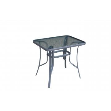 Τραπέζι εξωτερικού χώρου με τζάμι  ασφαλείας σε χρώμα γκρι.