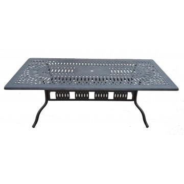 Τραπέζι αλουμινίου εξωτερικου χώρου με σχέδιο
