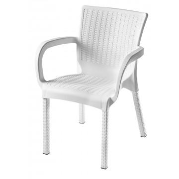 Πολυθρόνα πλαστική ραταν mambo πολυπροπυλένιο cappuccino