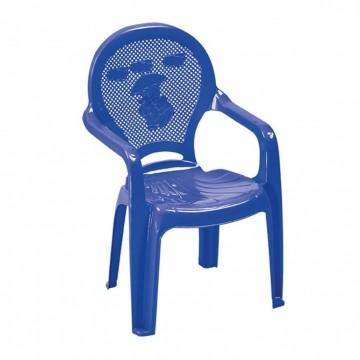 Πλαστική παιδική πολυθρόνα μπλε με σχέδιο