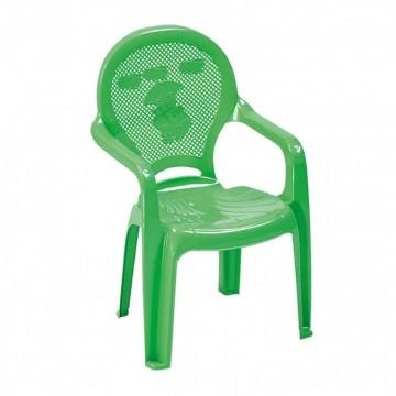 Πλαστική παιδική πολυθρόνα πράσινη με σχέδιο