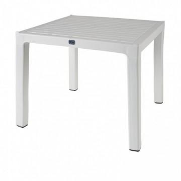 Τραπέζι πλαστικό τετράγωνο πολυπροπυλενίου με ανάγλυφο σχέδιο φυσικού ξύλου