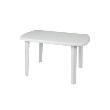 Τραπέζι πλαστικό με ίσια πόδια λευκό 125*80
