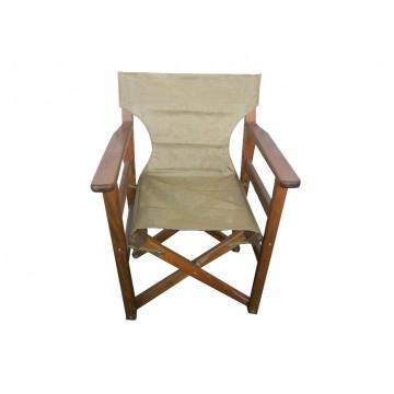 πολυθρόνα ξύλινη σκηνοθέτη