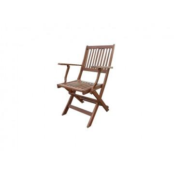 Πολυθρόνα ξύλινη πτυσσόμενη με  μπρατσα