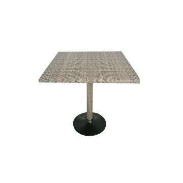 τραπέζι ραταν αλουμινίου 80*80*73cm