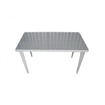 τραπέζι ραταν (πλεκτο) αλουμινίου