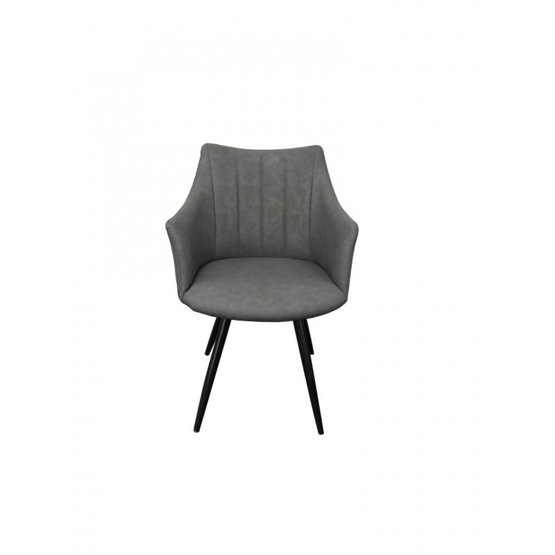 Πολυθρόνα για καφετερία με γκρι PU