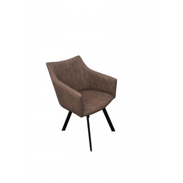 Πολυθρόνα για καφετερία με καφέ PU