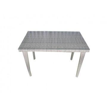 τραπέζι ραταν (πλεκτο) αλουμινίου 100x60x72cm